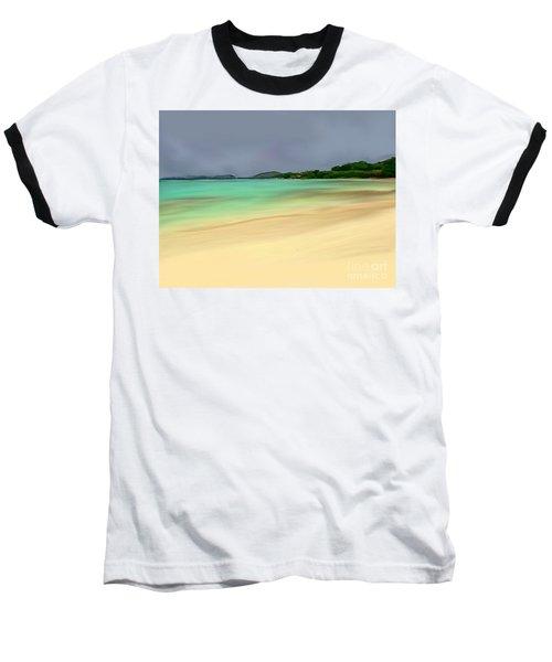 Baseball T-Shirt featuring the digital art Paradise by Anthony Fishburne