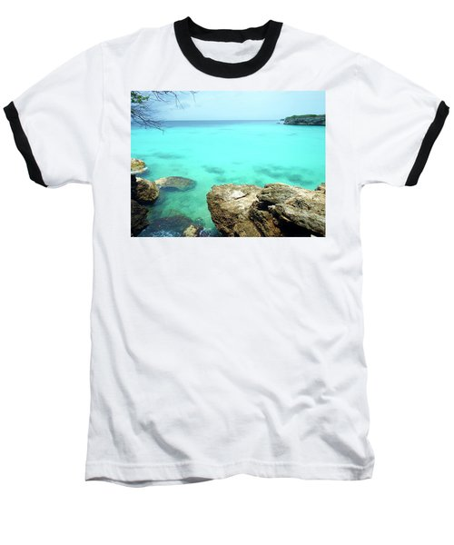 Baseball T-Shirt featuring the photograph Paradise Island, Curacao by Kurt Van Wagner