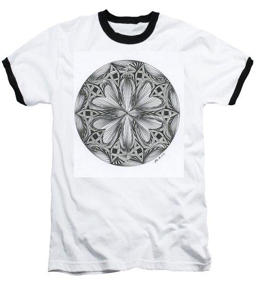 Paradoxical Zendala Baseball T-Shirt by Jan Steinle