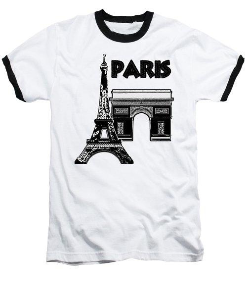 Paris Graphique Baseball T-Shirt by Pharris Art