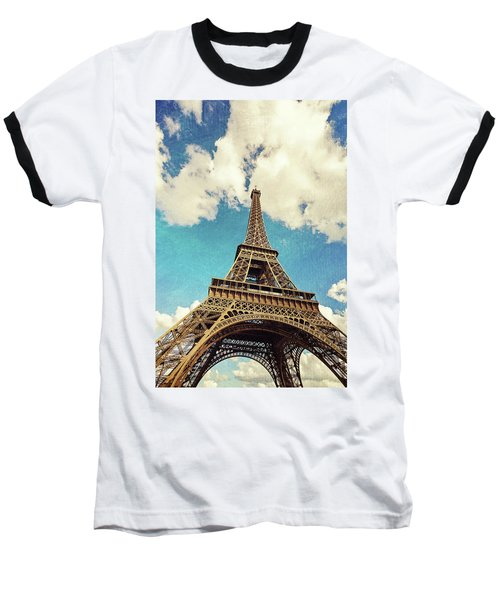 Paris Photography - Eiffel Tower Baseball T-Shirt