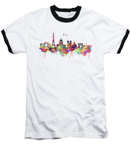 Paris Skyline 2 Baseball T-Shirt