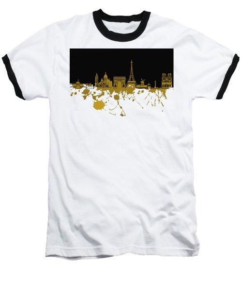Paris Skyline  Baseball T-Shirt