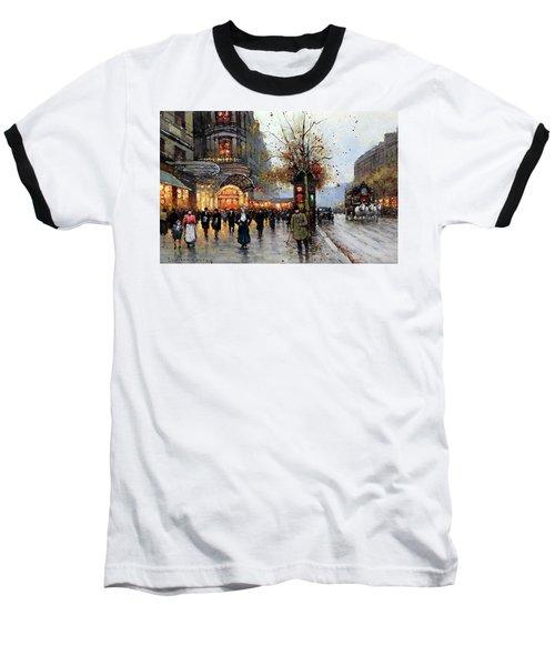 Paris Street Scene Baseball T-Shirt