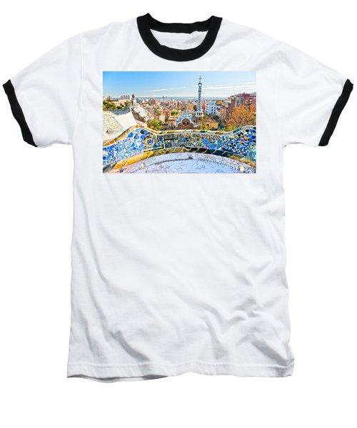 Park Guell Barcelona Baseball T-Shirt