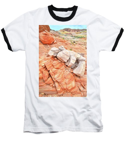 Baseball T-Shirt featuring the photograph Park Road Sandstone In Valley Of Fire by Ray Mathis