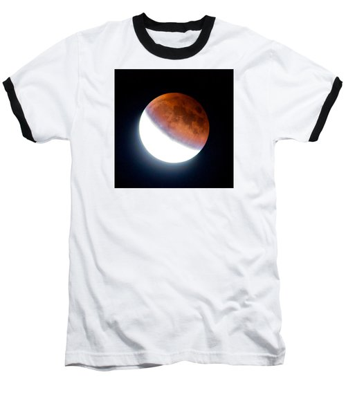 Partial Super Moon Lunar Eclipse Baseball T-Shirt