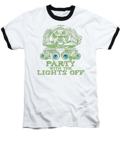 Baseball T-Shirt featuring the mixed media Party With The Lights Off by TortureLord Art