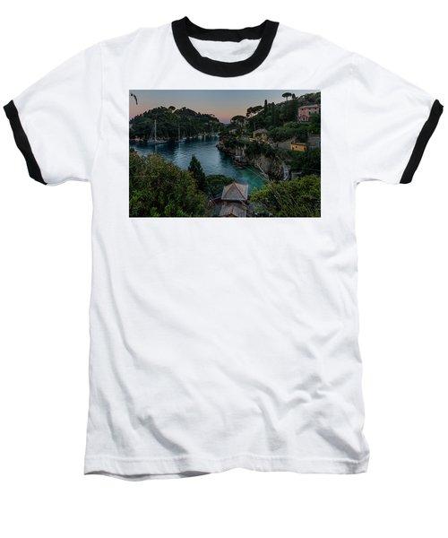 Nervi Coast With Train - La Scogliera Di Nervi E Il Suo Treno Baseball T-Shirt