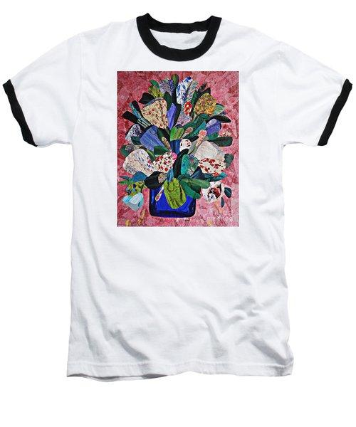 Patchwork Bouquet Baseball T-Shirt by Sarah Loft