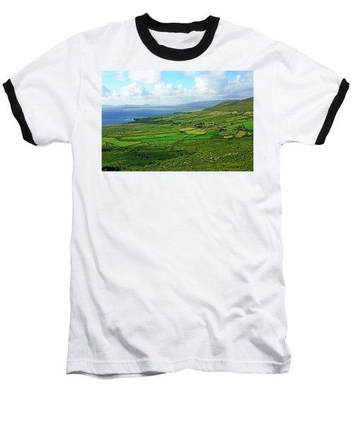 Patchwork Landscape Baseball T-Shirt