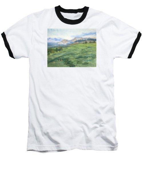Patchwork Of Green Baseball T-Shirt