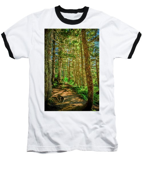 Path In The Trees Baseball T-Shirt