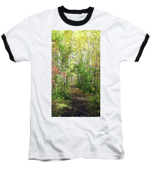 Path In The Woods 3 Baseball T-Shirt