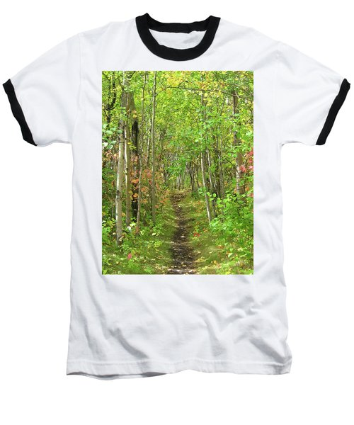 Path In The Woods Baseball T-Shirt
