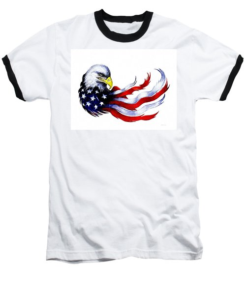 Patriotic Eagle Signed Baseball T-Shirt