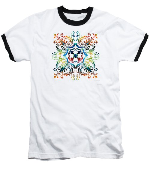 Pattern Art - Color Fusion Design 7 By Sharon Cummings Baseball T-Shirt