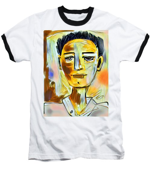 Pauls Portrait Baseball T-Shirt by Elaine Lanoue