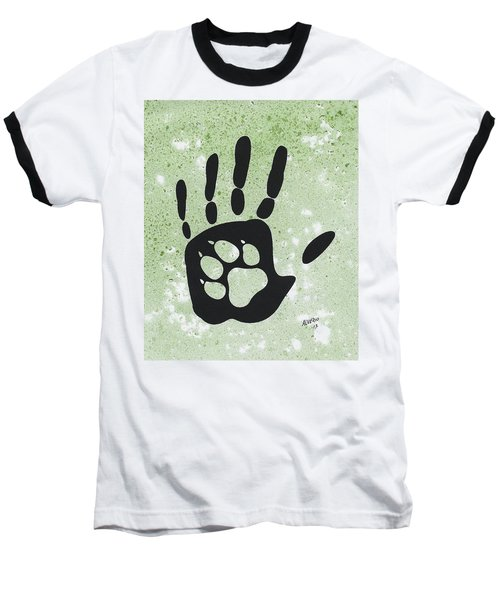 Paw And Hand Baseball T-Shirt