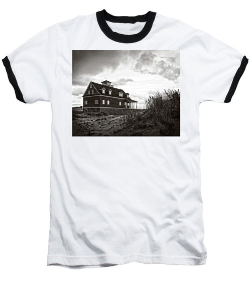 Baseball T-Shirt featuring the photograph Pea Island Lifesaving Station by Alan Raasch
