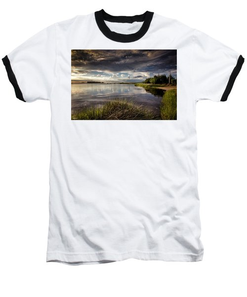 Baseball T-Shirt featuring the digital art Peace Along The Cape Fear by Phil Mancuso