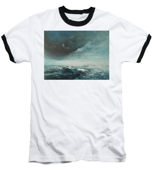 Peace In The Midst Of The Storm Baseball T-Shirt by Jane See