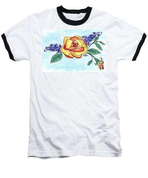 Peace Rose Baseball T-Shirt