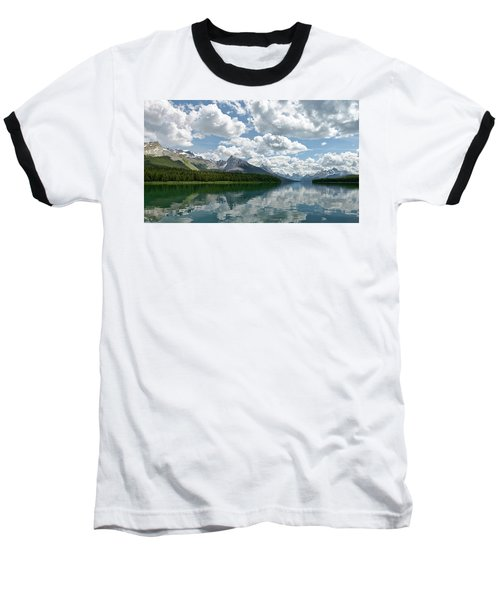 Baseball T-Shirt featuring the photograph Peaceful Maligne Lake by Sebastien Coursol