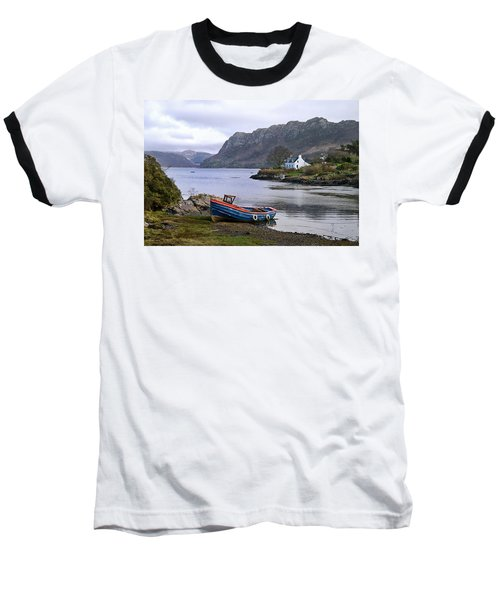 Peaceful Plockton Baseball T-Shirt by Jacqi Elmslie