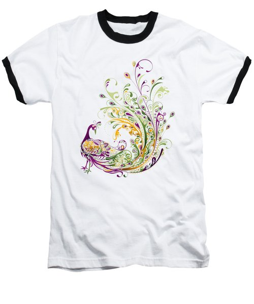 Peacock Baseball T-Shirt by BONB Creative