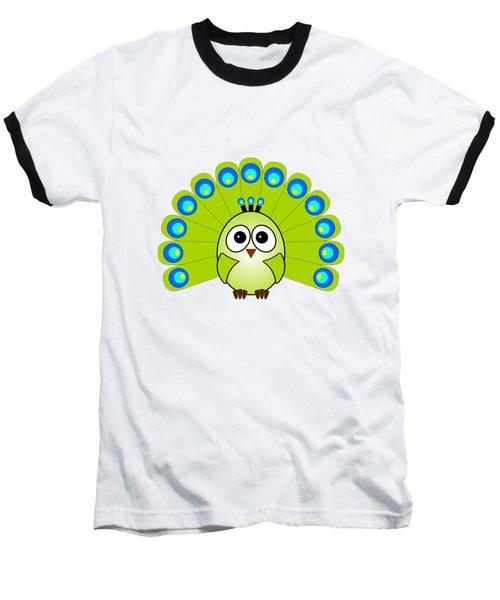 Peacock  - Birds - Art For Kids Baseball T-Shirt by Anastasiya Malakhova