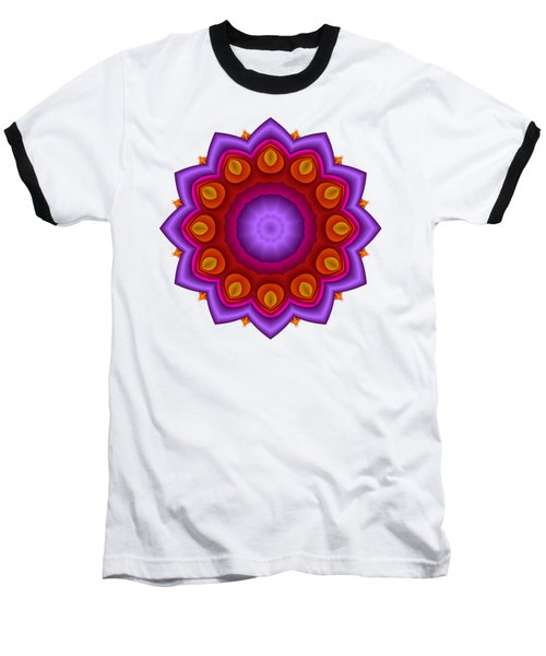 Peacock Fractal Flower Pretty Petals Baseball T-Shirt