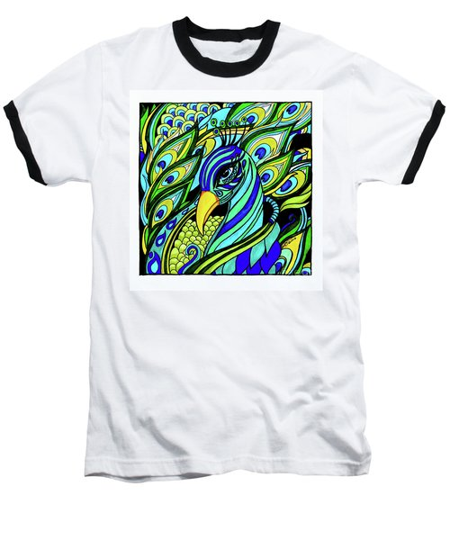Peacock Baseball T-Shirt