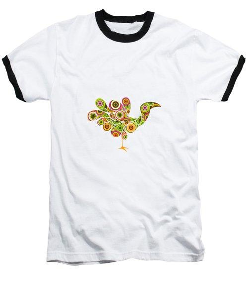 Peafowl Baseball T-Shirt by BONB Creative