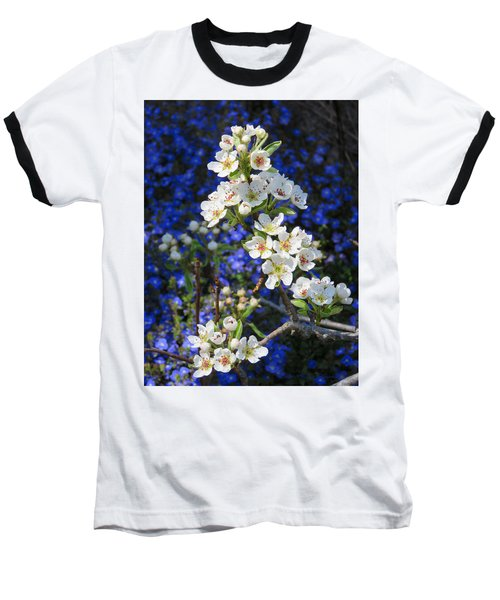 Pear Blossoms And Georgia Blue 2 Baseball T-Shirt