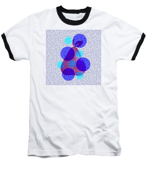 Pear In Blue Baseball T-Shirt by Coco Des