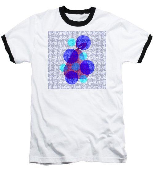 Pear In Blue Baseball T-Shirt