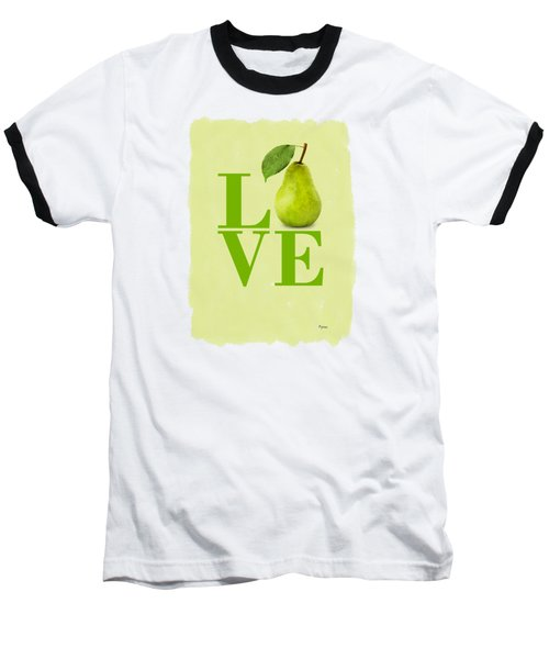 Pear Baseball T-Shirt by Mark Rogan