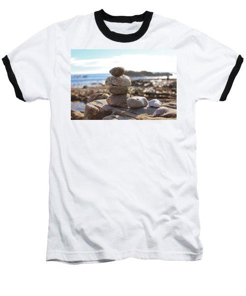 Peceful Zen Rocks Baseball T-Shirt