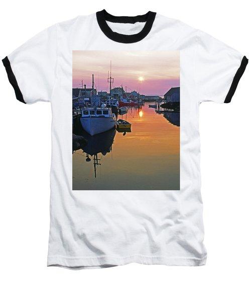 Peggy's Cove Sunset, Nova Scotia, Canada Baseball T-Shirt