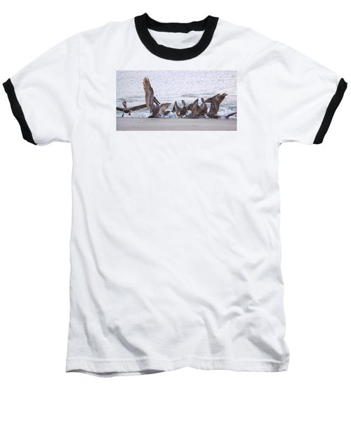 Baseball T-Shirt featuring the photograph Pelican Brunch by Patricia Schaefer