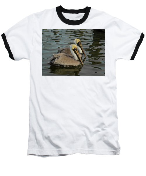 Baseball T-Shirt featuring the photograph Pelican Duo by Jean Noren