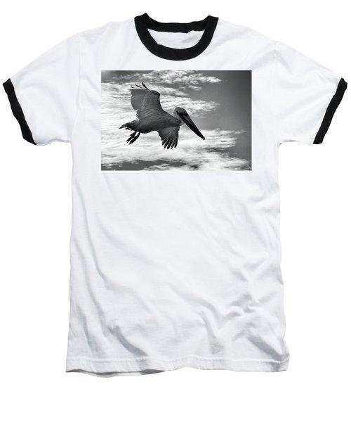 Pelican In Flight Baseball T-Shirt