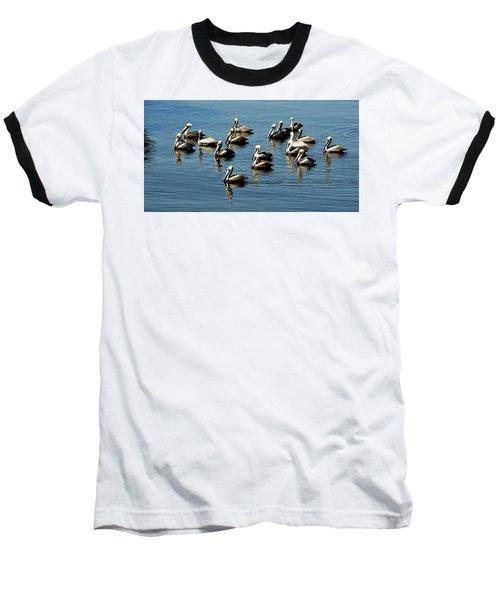 Pelicans Blue Baseball T-Shirt