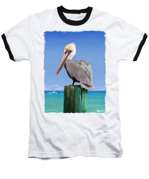 Pelicans Post Baseball T-Shirt by Kevin Putman