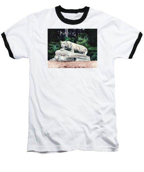Penn State Nittany Lion Shrine University Happy Valley Joe Paterno Baseball T-Shirt by Laura Row