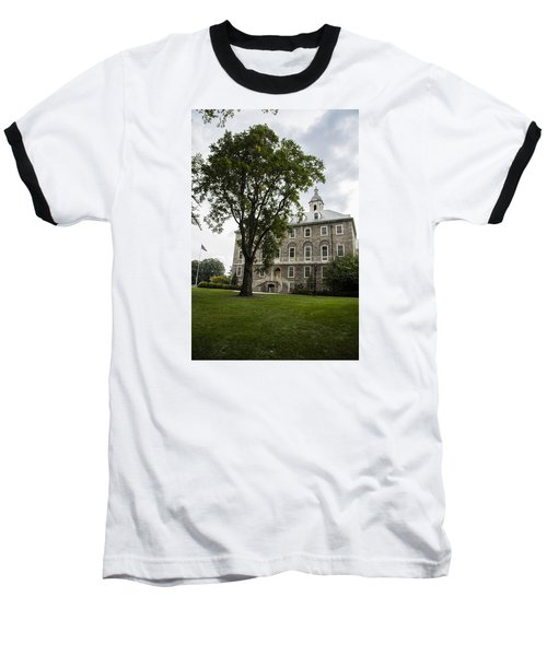 Penn State Old Main From Side  Baseball T-Shirt by John McGraw