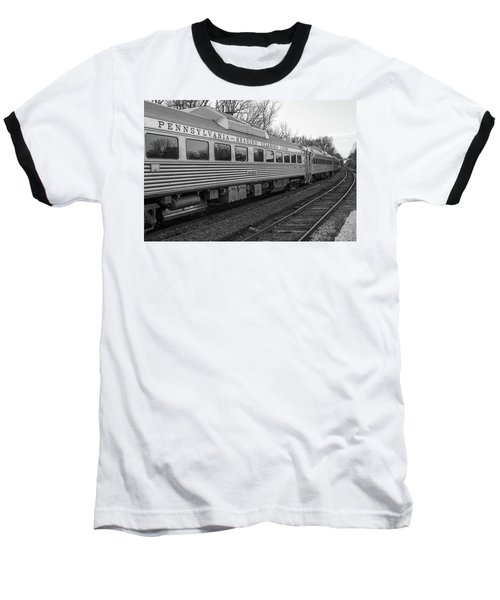 Baseball T-Shirt featuring the photograph Pennsylvania Reading Seashore Lines Train by Terry DeLuco