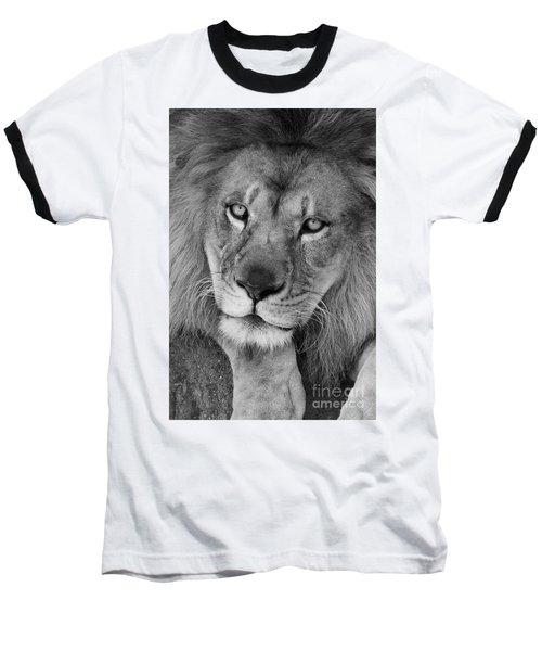 Pensive Black And White Baseball T-Shirt