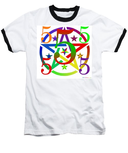 Penta Pentacle White Baseball T-Shirt
